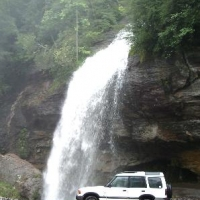 Bridal Veil Falls - Highlands NC