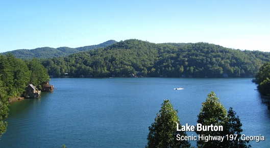 Lake Burton In Habersham County Southern Highroads Trail