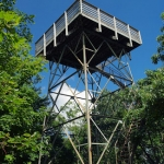 Wesser Bald Observation Tower located north of Franklin